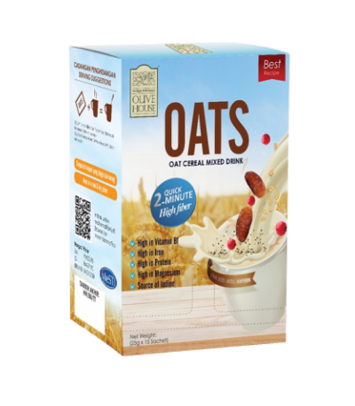 OLIVE HOUSE OAT CEREAL MIXED DRINK 15Sachet