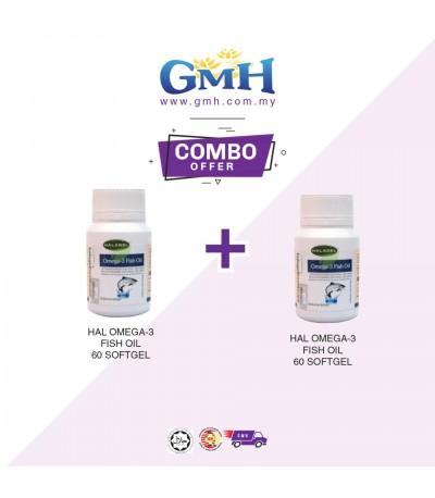[COMBO] Halagel Omega-3 Fish Oil 60softgels (2 unit)