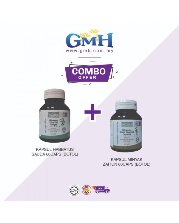 [COMBO] Minsyam Kapsul Habbatusauda 60caps + Kapsul Minyak Zaitun 60caps (Botol)