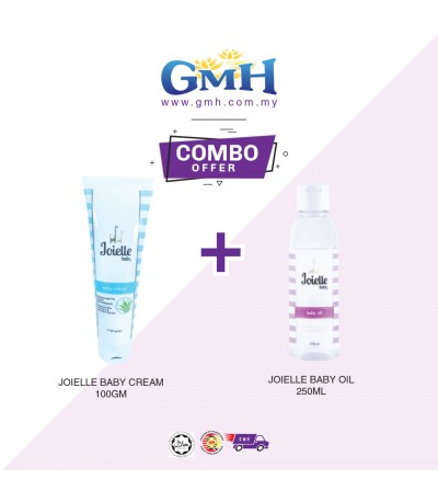 [COMBO] Joielle Baby Cream 100gm  + Joielle Baby Oil 250ml