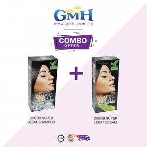 [Combo]D'Herb Shampoo Super Lebat + D'herb Super Lebat Cream
