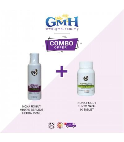 [COMBO] Nona Roguy Minyak Berubat Herba 130ml + Nona Roguy Phyto Natal 90 tablet